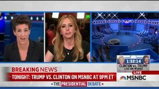 AJ Delgado joins Rachel Maddow for pre-debate analysis live from St Louis/Washington Univ, Oct 9