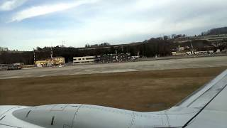 Взлет из Сочи (Адлер). Take off Sochi, Russia, Boeing 737-800