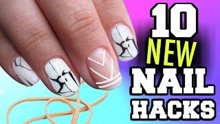 10 Nail Art HACKS You've NEVER seen before!!