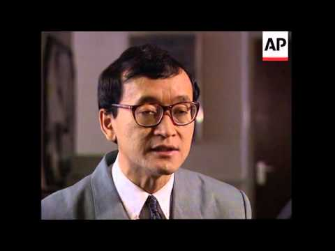 UK: CAMBODIAN OPPOSITION LEADER SAM RAINSY SPEAKS OF POLITICAL CRISIS