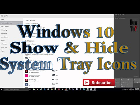 Hide & show Notification, System Tray Icons in Windows 10