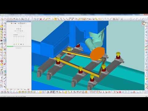 Licom AlphaCAM, CNC-Positionieren von Saugern oder Klemmen