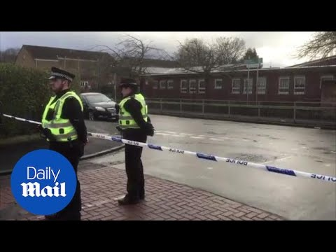 Police At The Scene Following Shooting Near Glasgow School - Daily Mail