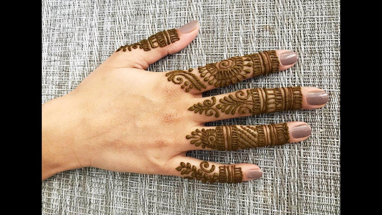 Creative Mehendi Design For Fingers Easy Beautiful Mehndi Henna On