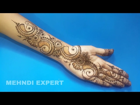 Simple and Beautiful Arabic Mehndi Design for Hands ll Step by step tutorial