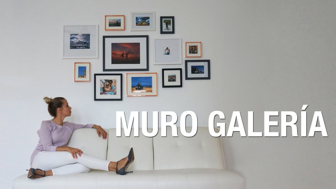 Decora tu pared con cuadros | DIY Muro galería | Superholly - YouTube