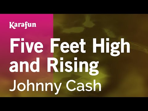 Karaoke Five Feet High and Rising - Johnny Cash *
