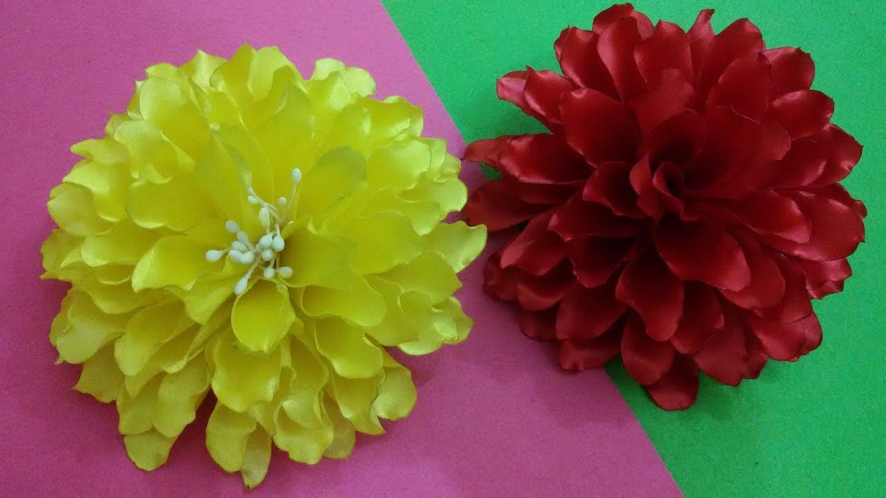 Diy satin dahlia flower tutorial myindulzens youtube izmirmasajfo