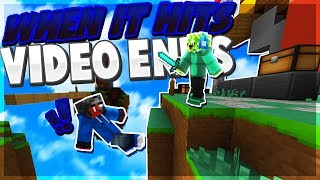 IF I GET HIT THE VIDEO ENDS... - Minecraft PE (Pocket Edition)