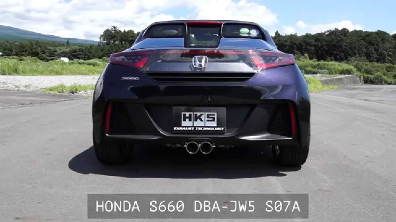 HONDA S660 DBA-JW5 HKS LEGAMAX Premium - YouTube