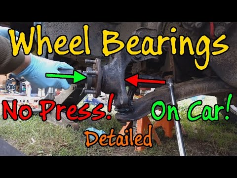 How To Replace Subaru Wheel Bearing Without A Press - Detailed Version