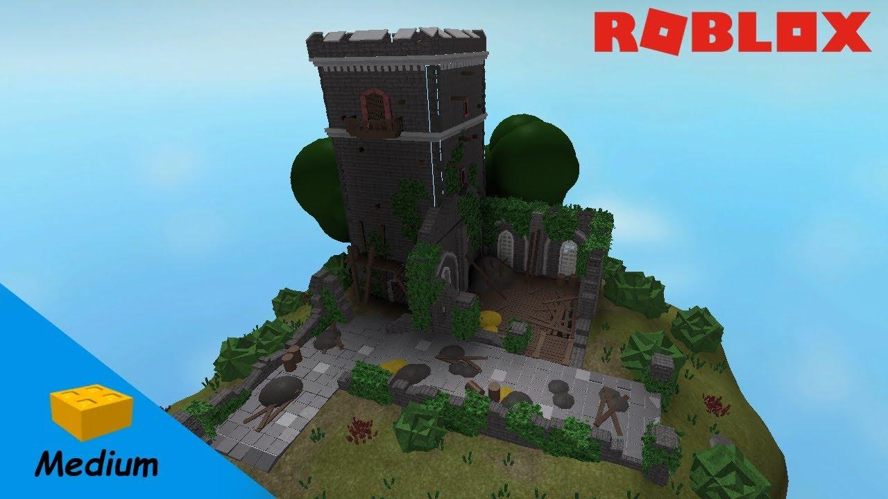 Roblox Studio Speed Build Old Castle Ruin Youtube