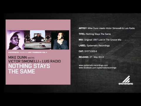 Mike Dunn - Nothing Stays The Same (Original 1997 Lost In The Groove Mix)
