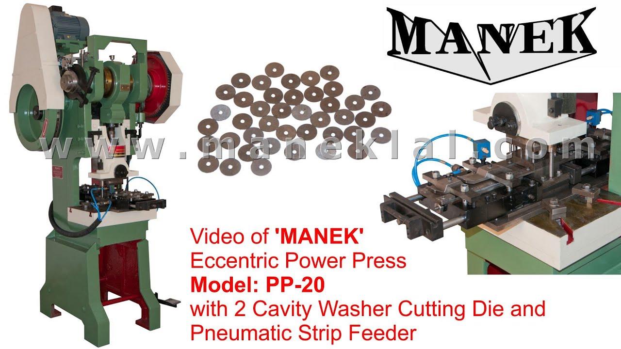 Manek 20 Ton Eccentric Power Press Model Pp 20 With