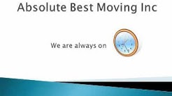 Plantation Florida Movers - Absolute Best Moving Inc - 954-295-9149
