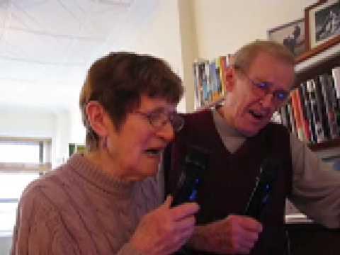 My parents singing karaoke