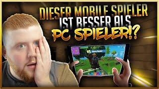 😱📱DIESER MOBILE SPIELER SPIELT BESSER ALS PC SPIELER!? | Fortnite Battle Royale