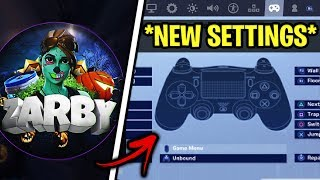 *NEW* Zarby Fortnite Settings & Controller Keybinds (UPDATED SETTINGS)