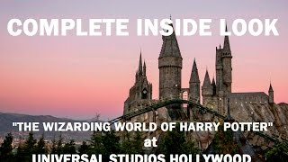 Complete inside look harry potter at universal studios hollywood theme park