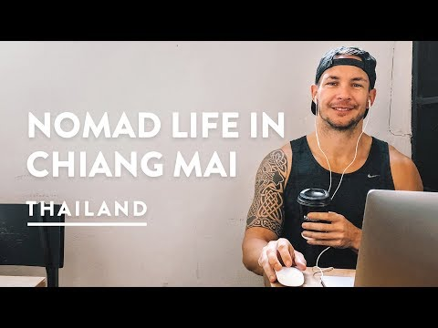 A DAY IN THE LIFE  CHIANG MAI DIGITAL NOMAD  Thailand Travel Vlog 123, 2018  Chiangmai