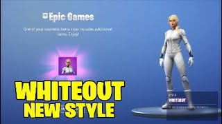 Fortnite whiteout skin new style - no mask