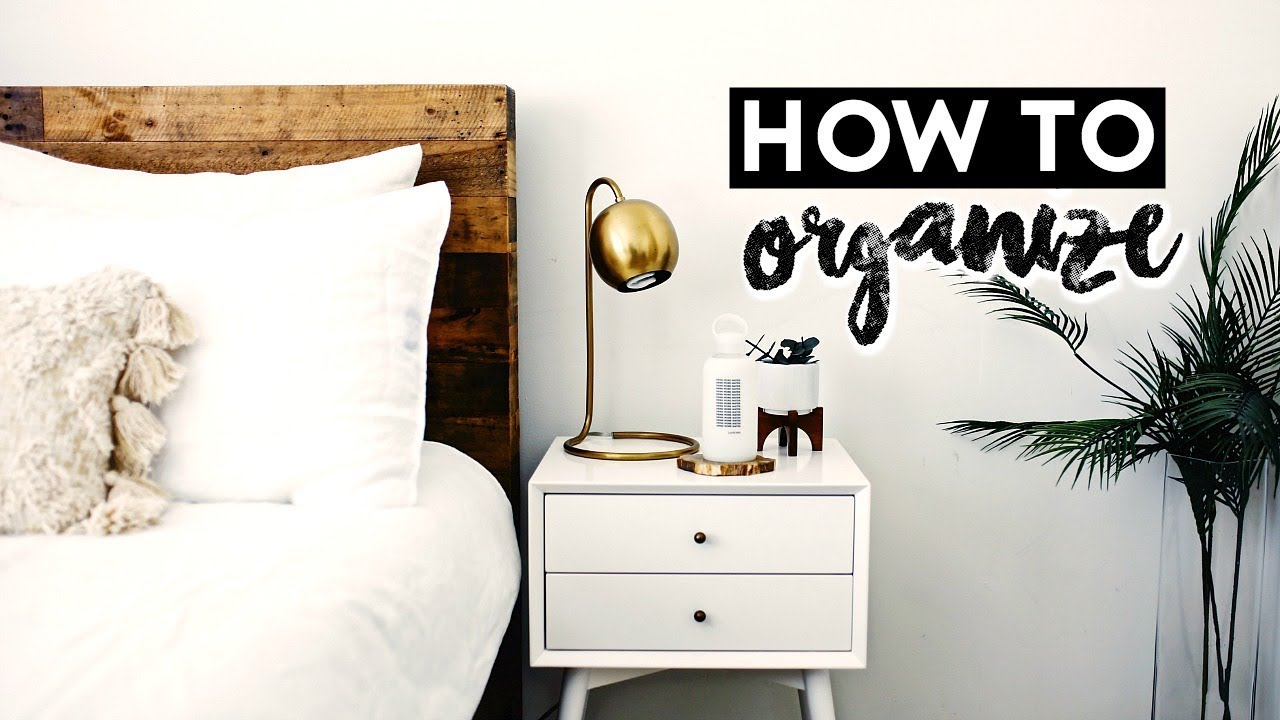 How To Style Organize Your Nightstand Nastazsa Youtube