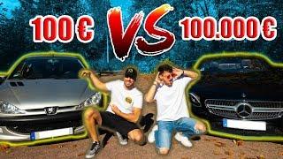 100€ Auto vs. 100.000€ Auto (zu krass) |  FaxxenTV