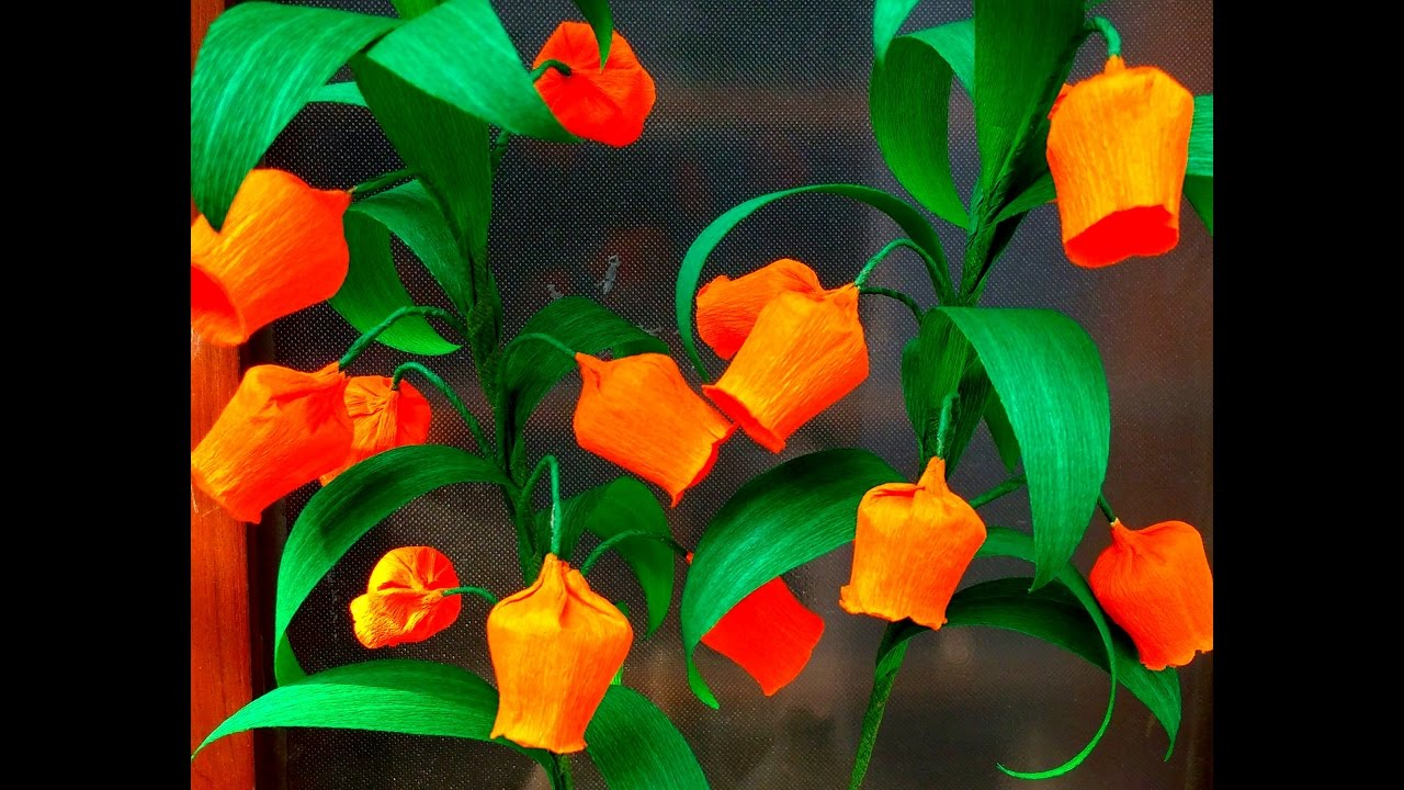 How To Make Easy Paper Flowers Christmas Bells Sandersonia