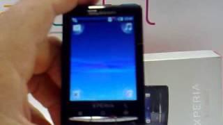 Sony Ericsson X10 Xperia mini. Demostracion del telefono movil de Sony Ericsson