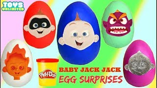 Incredibles 2 Baby Jack Jack Super Powers Play-doh Egg Toy Surprises