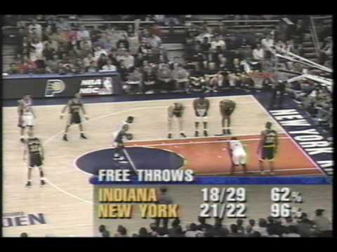 Indiana Pacers VS Ny Knicks (Game 3 1998 NBA playoffs ) Part 11 of 12