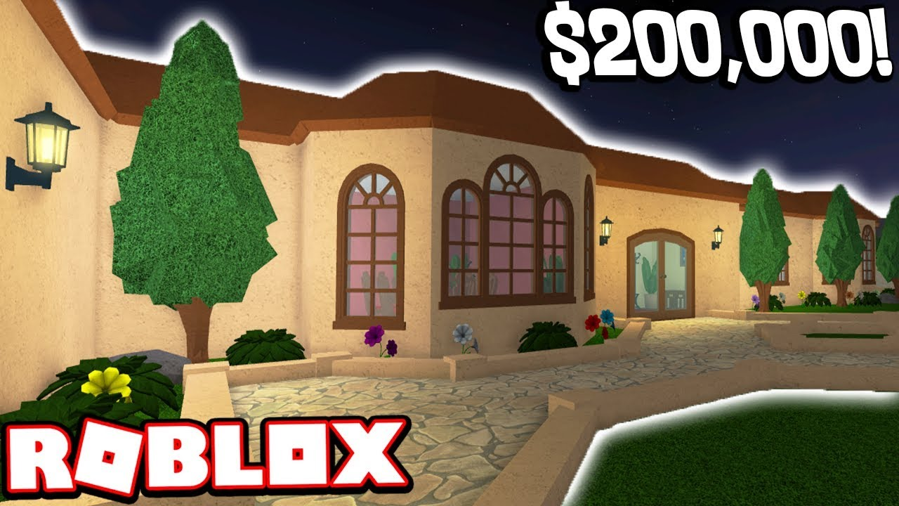 I paid 200 000 to tour this pre built mansion roblox for Build a house for 200k