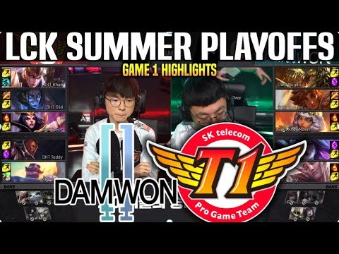 DWG vs SKT Game 1 Highlights LCK Summer Playoffs - DAMWON vs SKT T1 Game 1 Highlights LCK Summer