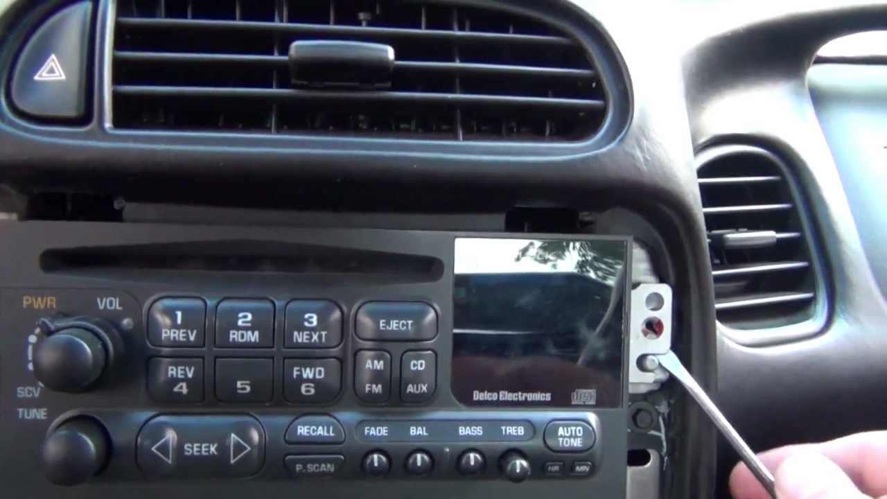 how to remove a stock radio stereo from a c5 chevrolet corvette audio installation part 1 youtube [ 1280 x 720 Pixel ]