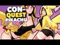 PIKACHU COSPLAYER LOST CLOTHES! Con-Quest Gameplay Part 1