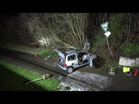 PKW stürzte Brücke runter - Fahrer verstorben in Sankt Augustin-Buisdorf am 10.12.17 + O-Ton