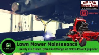 Riding Mower - hydro fluid change on Gravely Compact Pro 34
