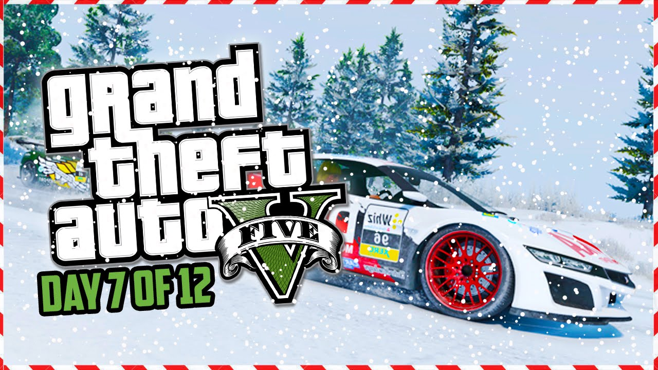 GTA 5 Funny Moments - CHRISTMAS UPDATE DLC! PATCH 1.19! (Day 7 of ...