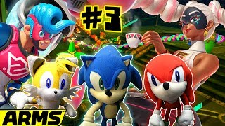 ABM: ARMS GLOBAL TESTPUNCH 3!! Sonic Gangs In Action!! HD