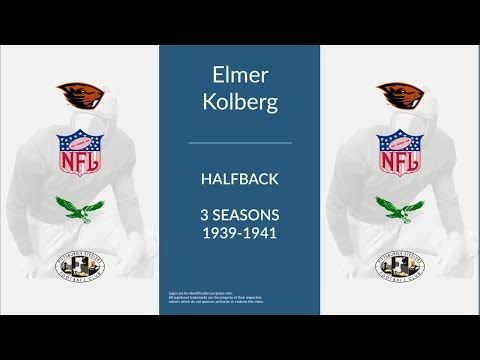 Elmer Kolberg: Football Halfback,  End,  Center, and Fullback