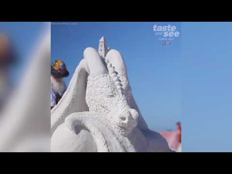 Gorgeous sand sculptures on display at Siesta Beach | Taste and See Tampa Bay
