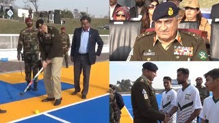 COAS General Qamar Javed Bajwa Plays Hockey to Promote National Sports