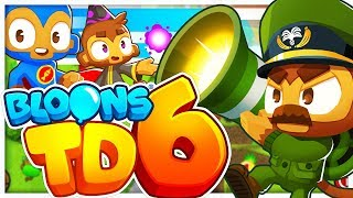 BLOONS TD 6 EARLY GAMEPLAY - NEW TOWERS, 5 UPGRADE TOWERS AND HEROES (BLOONS TOWER DEFENSE 6)