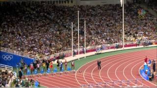 2004 雅典奥运会 刘翔 跨栏  冠军 12.91