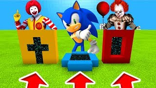 Minecraft PE : DO NOT CHOOSE THE WRONG PORTALS! (Pennywise, Ronald Mcdonald & Sonic)