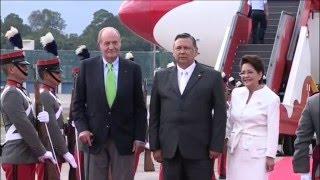 S.M. el Rey Juan Carlos llega a Guatemala para la investidura de Morales