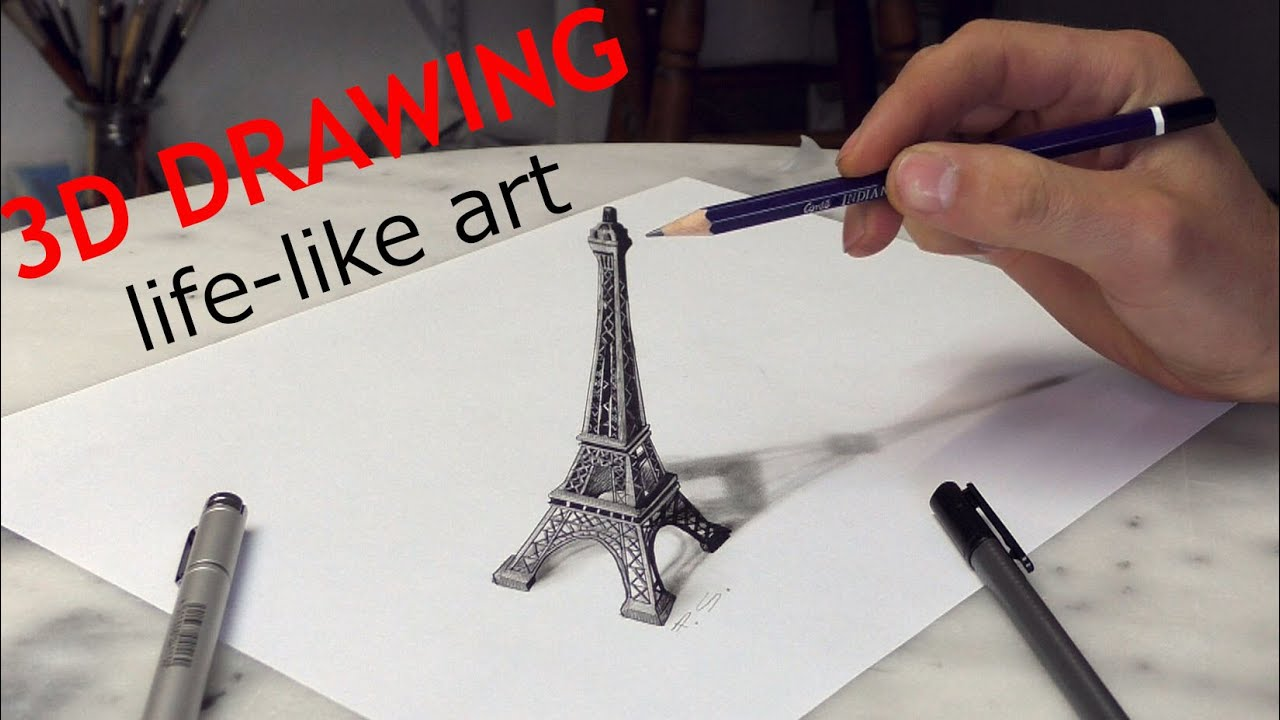Eiffel Tower Pencil Drawing at GetDrawingscom  Free for