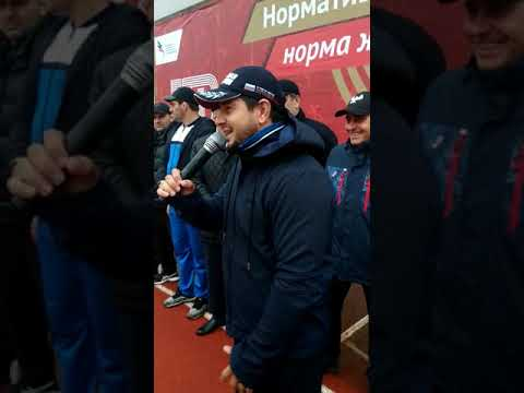 Шамиль Алиев на церемонии открытия чемпионата Дагестана по ГТО