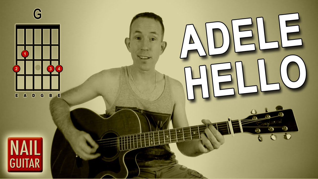 Hello ★ Adele ★ Guitar Lesson - Easy How To Play Acoustic ...