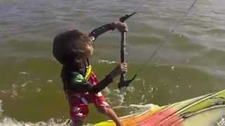 Davi Ribeiro - Youngest Kitesurfer - 3 Years Old